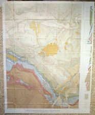 Usgs Geology Of Beartooth Mountains And Livingston Country, Montana, Huge Map