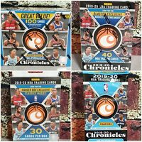 2019-2020 Panini Chronicles NBA Basketball Mega, Blaster, Hanger Box, Fat Packs