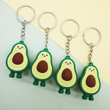Fashion Simulation Fruit Avocado Smile Keychain 3D Resin Key Chains Jewelry B_cx