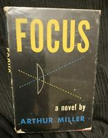Focus A Novel By Arthur Miller SIGNED! HTF Early Edition With Dust Jacket