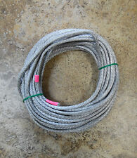 "NEW 1/4"" x 50' Dyneema Winch Line, Synthetic Pulling Rope, 12-Strand Braid"