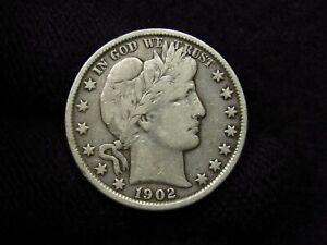 1902 Barber Half Dollar VF DETAIL OLD CLEANING