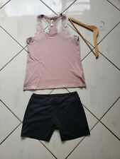 Outift Adidas Shorts Fabletics Pink Racerback Top Athletic Running Size Large L