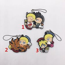 T414 Hot Japan anime Naruto rubber Keychain Key Ring Rare cosplay
