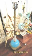 Murano Tole Pulegoso Gold Fleck, Flowers, Dolphin Footed, Hodge Podge Lamp Label