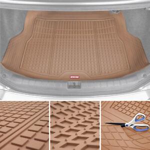 Car Cargo Rubber Floor Mat Motor Trend Beige Odorless Heavy Duty Trimmable Liner