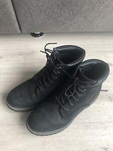 Timberland Stiefeletten /Boots, schwarz, Leder, Gr. 39