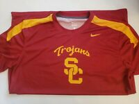 Nike USC Mens Warmup Dry Fit Short Sleeve Shirt, NWT- small imperfection/see pic