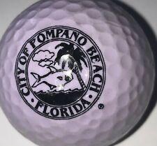 Light Purple City of Pompano Beach South Florida Rescue Logo Golf Ball (F-13-3)