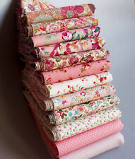 12Pcs 23cm*24cm pink Cotton crafts doll cloth Quilting Patchwork fabric tecidos