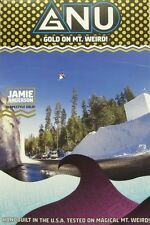 GNU snowboard 2015 JAMIE ANDERSON *GOLD* promotional poster ~NEW~MINT~!