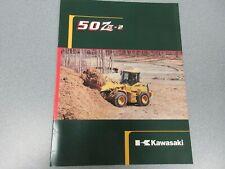 Kawasaki 50Z iv-2 Wheel Loader Literature 12 Pages