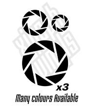 3 x aperture labs laboratories portal vinyle sticker autocollant ps3 xbox ipad symbole