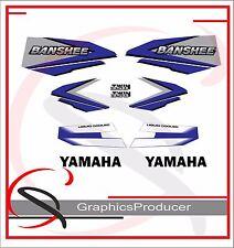 Yamaha Banshee Decals 1998 Reproduction Blue And White Full Set Custom Design