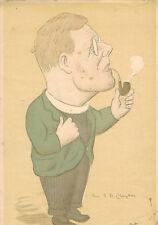 MAX BEERBOHM print of REV P. B. CLAYTON  1931 The Spectator