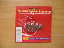 5 Green Push In Spare Bulbs for Micro Lights 7v 0.49w 0.07a (S67)