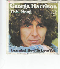 """Single 7"""" George Harrison """"This Song/Learning how to love you"""""""