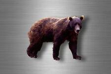Autocollant sticker voiture moto decoration grizzli ours brun animal animaux