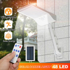 48 LED Waterproof Solar Lamp Outdoor Garden Yard PIR Motion Sensor Wall Light