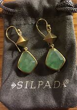 "Silpada ""Jade Goddess"" Earrings KRW0134 Jade Stone"