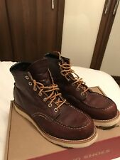 "Red Wing 875 Heritage Work 6"" Moc Toe Boot in Brown Size 7.5 perfect for UK8"