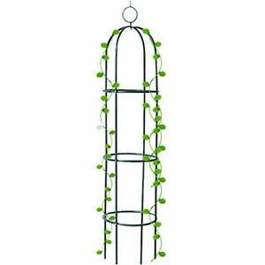 Tower Obelisk Garden Trellis 6.3 Feet Tall Plant Support for Climbing Vines