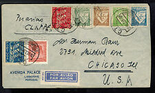 1939 Lisbon Portugal Clipper Airmail cover to USA