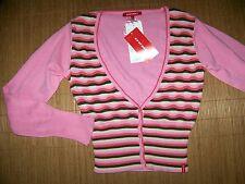 MEXX Cardigan Damen Strickjacke S gestreift rosa V-Ausschnitt NEUWARE #73