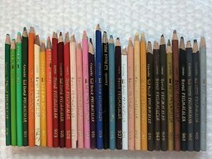 32 Vintage Berol Prismacolor Colored Pencil Crayon Thick Lead Artist Grade Lot A