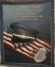 "New `Police Officer's Prayer' Cop Tapestry Throw Blanket 48"" X 60"""