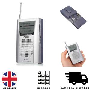 Portable Mini Pocket Travel AM FM Radio Battery Powered Built-in Speaker Stereo