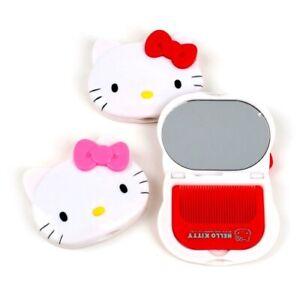 Hello Kitty Mirror & Comb Set Sanrio Travel Mirror (1 random)