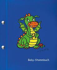 Baby-Stammbuch DINO, Geschenk zur Geburt, Jungen, blau, Unterlagen für Baby