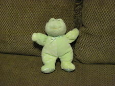 "RARE 9"" Baby Gund DOTTIE DOTS Plush Green FROG Lovey Rattle Crinkle #58242  (33)"