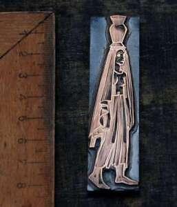 WASSERTRÄGERIN Galvano Druckplatte Klischee Eichenberg printing plate copper