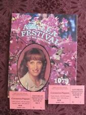 1979 WILMINGTON NC Azalea Festival/Tickets Pageant Laurie Walters Debbie Boone