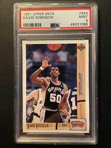 1991 Upper Deck #324 David Robinson PSA 9 MINT San Antonio Spurs HOF