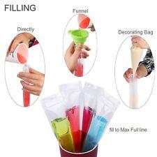 100pcs Plastic Ice Popsicle Mold Freeze Bags Pop Mould Zip Lock Storage Pouches