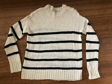Country Road Cream & Black Striped Knit Jumper Top