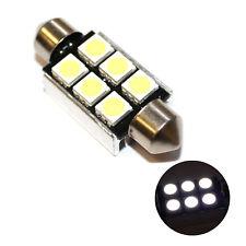 Fits Fiat 500 312 1.4 White 6-SMD LED 39mm Festoon 12v Number Plate Light Bulb