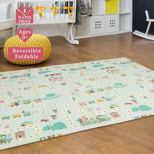 Baby Kids Crawling Game Play Mat Floor Soft Foldable Foam Carpet Toddler 2 Side