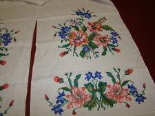 Vintage Ukrainian embroidered rushnyk  Cherkasy  region  1950's #35