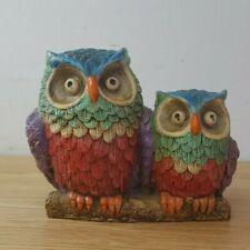 Vintage Kitsch Ceramica Convento Jesus Maria Aracena Spain Pair Owls