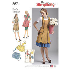 Simplicity SEWING PATTERN 8571 Misses Retro 1940's Aprons S,M,L