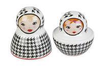 RUSSO bambole Novità sale e pepe pentole Shaker CANTINETTA OLIERA SET CONDIMENTO
