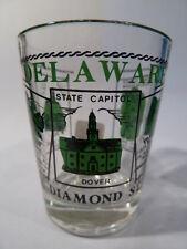 DELAWARE SCENERY GREEN SHOT GLASS SHOTGLASS