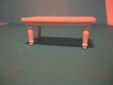 DOLLHOUSE MINI HALF INCH SCALE  COFFE TABLE IN WHITE