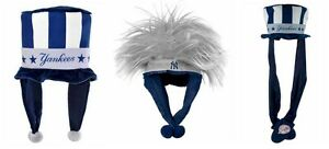 New York Yankees Forever Collectibles Plush Mascot Long DangleTroll Hair Hat Cap