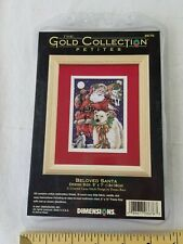 Dimensions 2001 Gold Collection Petites 8676 Beloved Santa Counted Cross Kit