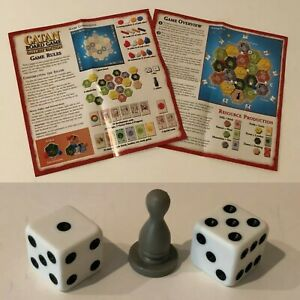 Catan Gallery Edition Board Game Replacement Parts Pieces Choice Instructions